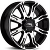 American Racing AR708 Black/Machined 9.5x22 8*165 d125.0 ET0