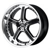 Lorenzo Wl21 Black/Machined 8.5x20 5*112 d66.6 ET32